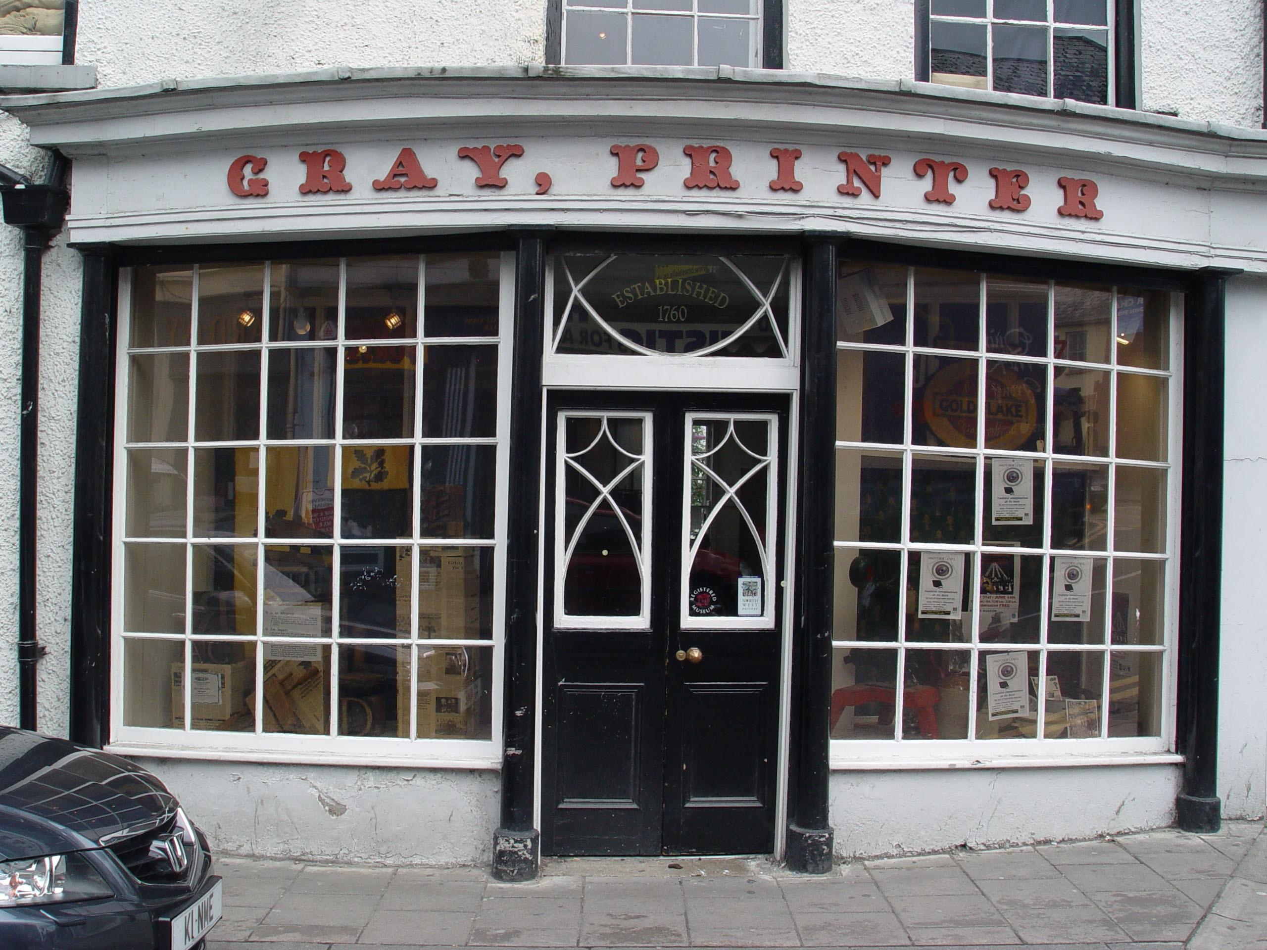Grays printing press